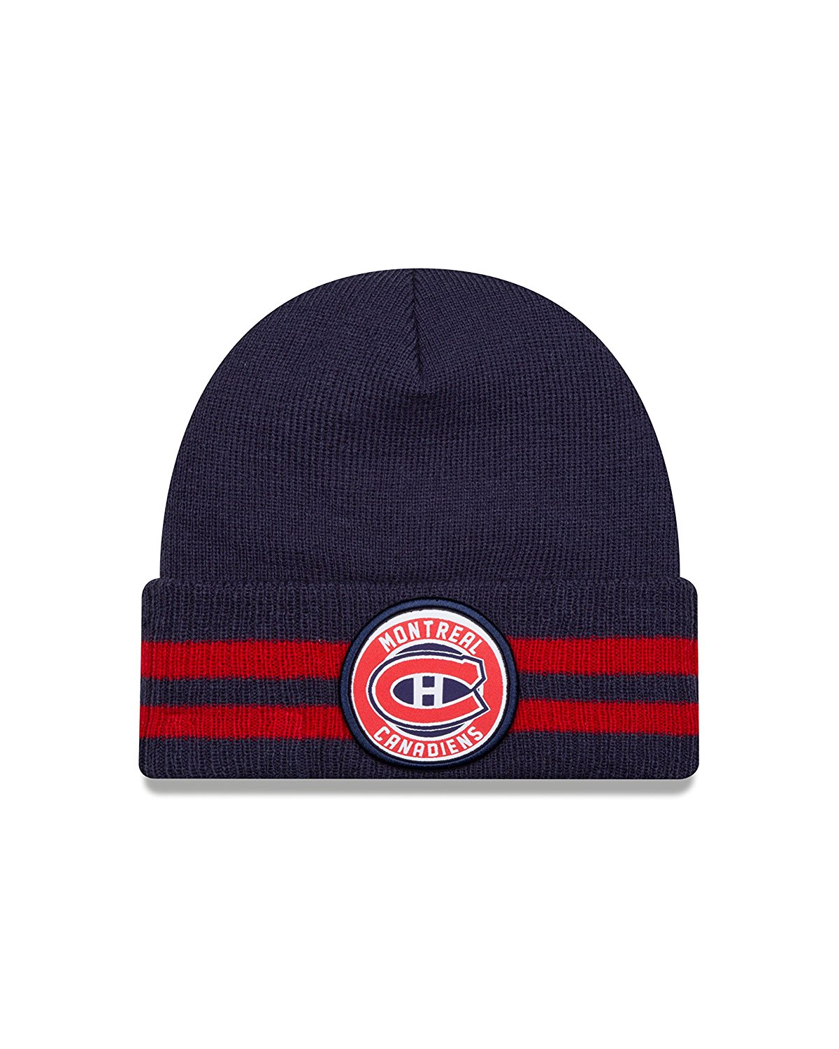 655983ac1aa Get Quotations · Montreal Canadiens New Era NHL Cuffed 2 Striped Remix Hat