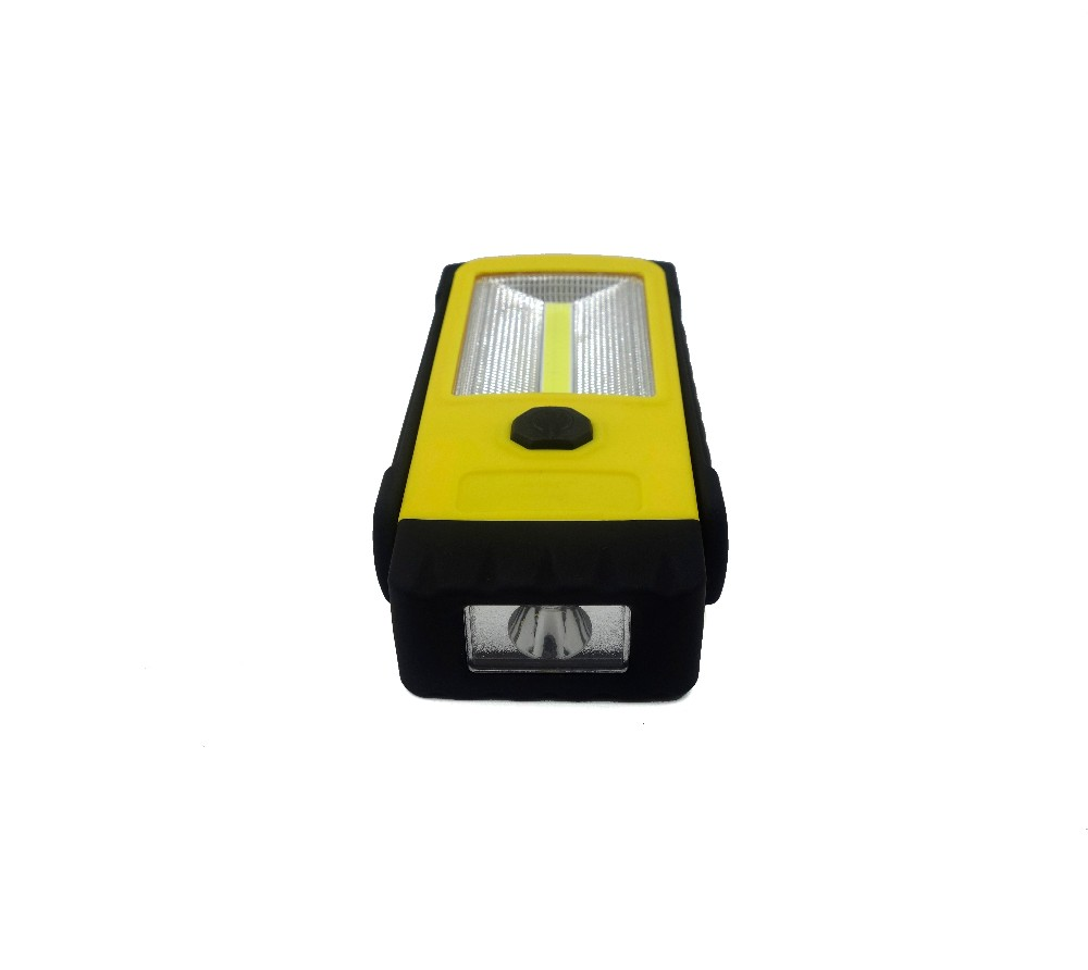 LED+COB Portable Flashlight High Power Work Light With Hook And Magnet