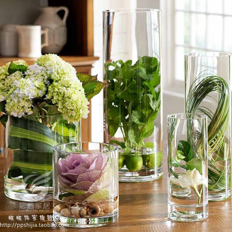 transparente glas vase f r blumen hochzeit requisiten spur zylinder vase tisch blumenvasen vase. Black Bedroom Furniture Sets. Home Design Ideas
