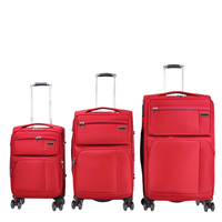 manufacture price stylish fabric cabin size wheeled trolley 360 free spinner weight sensor luggage
