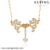 43082 fashion jewellery, Xuping crystal jewellery necklace, wholesale Jewelry Fashion 18K Gold Plated Women Pendant Necklace