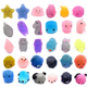 New Generation Mini Mochi Squishies Toys Glitter wholesale Party Favors for Kids Kawaii Cat Stress Reliever phone case Toy