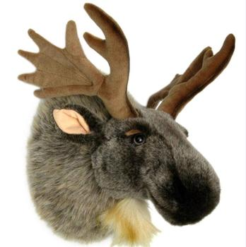 Christmas Wall Decoration Plush Deer Head 3d Wall Mounted Moose