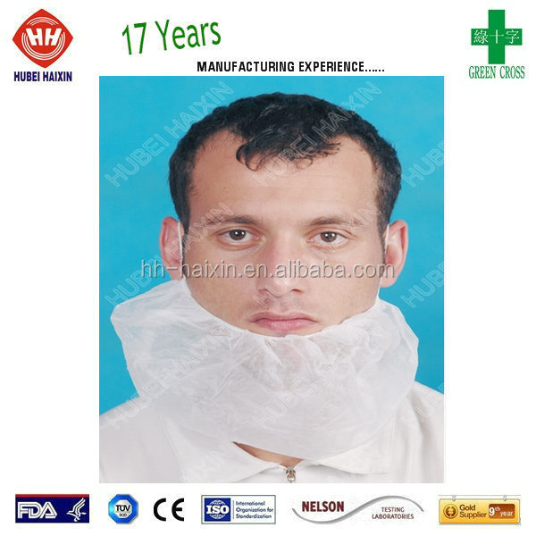 "Disposable Beard Guard, Bouffant, 18"" (Pack of 100)"