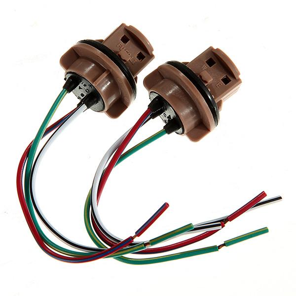 7440 7443 патрон лампы тормозной сигнал поворота свет жгут проводов из светодиодов свинья хвост зажигания T20
