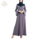 Latest Design Muslimah Two Piece Fashion Bell Sleeves Peplum Baju Kurung Malaysia