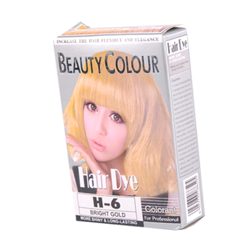 Bright gold more shiny long-lasting professional hair color cream