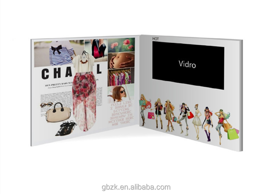 Video Brochure with a 7 inch HD screen for business invitations presentation