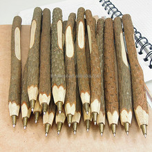 Novelty handmade wood twig pen , lovely Korean stationery logo branches ballpoint pen