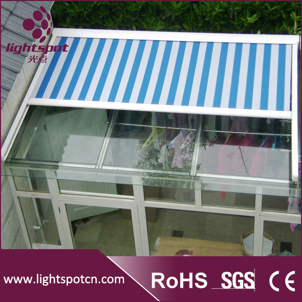 Lager Waterproof Pergola Roof Awnings Aluminum Retractable