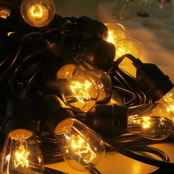 Hot sale 24FT 8 sockets E26 outdoor Edison LAMP string lights for festival decoration