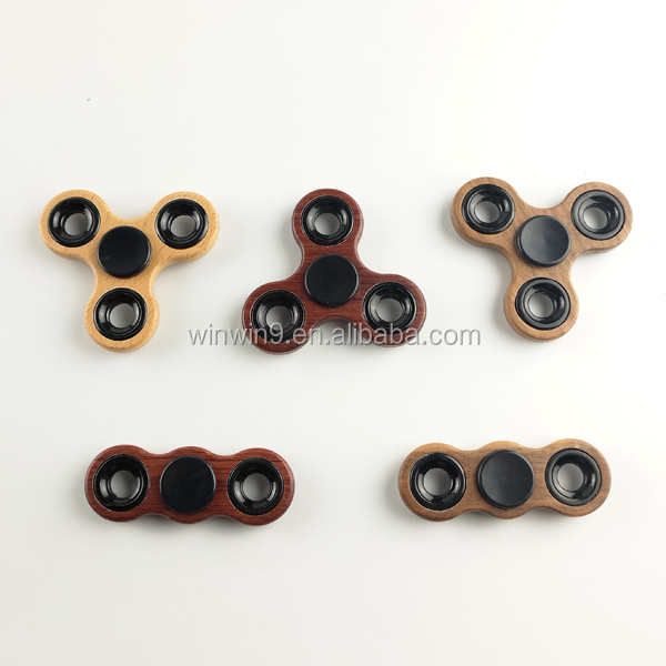 Handwork Wood Toys Pressure Release Wood Fidget Spinner Toy High-speed Persistent