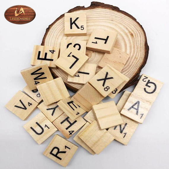 2018 DIY Education Wooden Toys For Kids,100 Piece Wood Digital Alphabet Scrabble Tiles,Learning Toy,