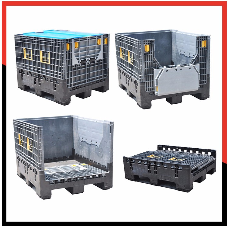 Industrial Logistic Collapsible Foldable Storage Bin Plastic Storage Box