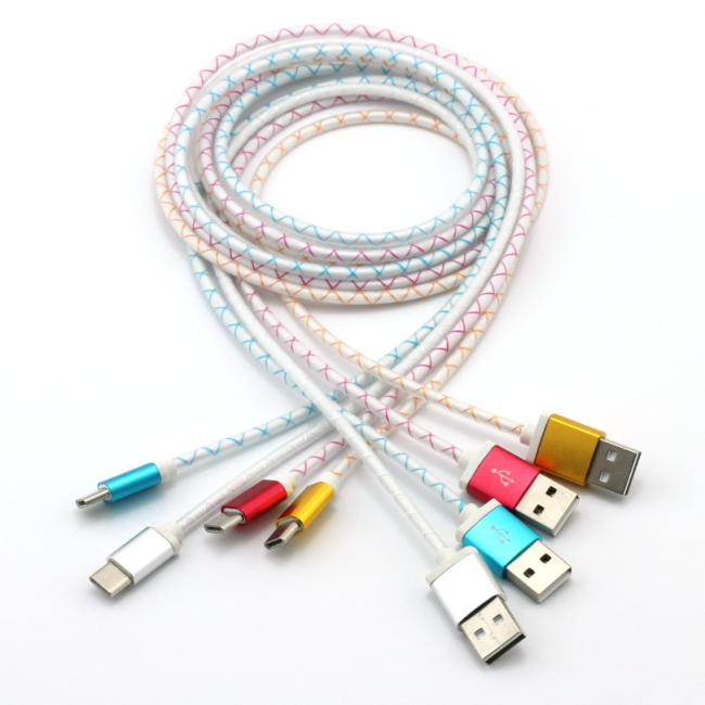 Colorful USB Type-C Sync Data Charging Cable Cord Cable for Oneplus Two/For Nokia N1