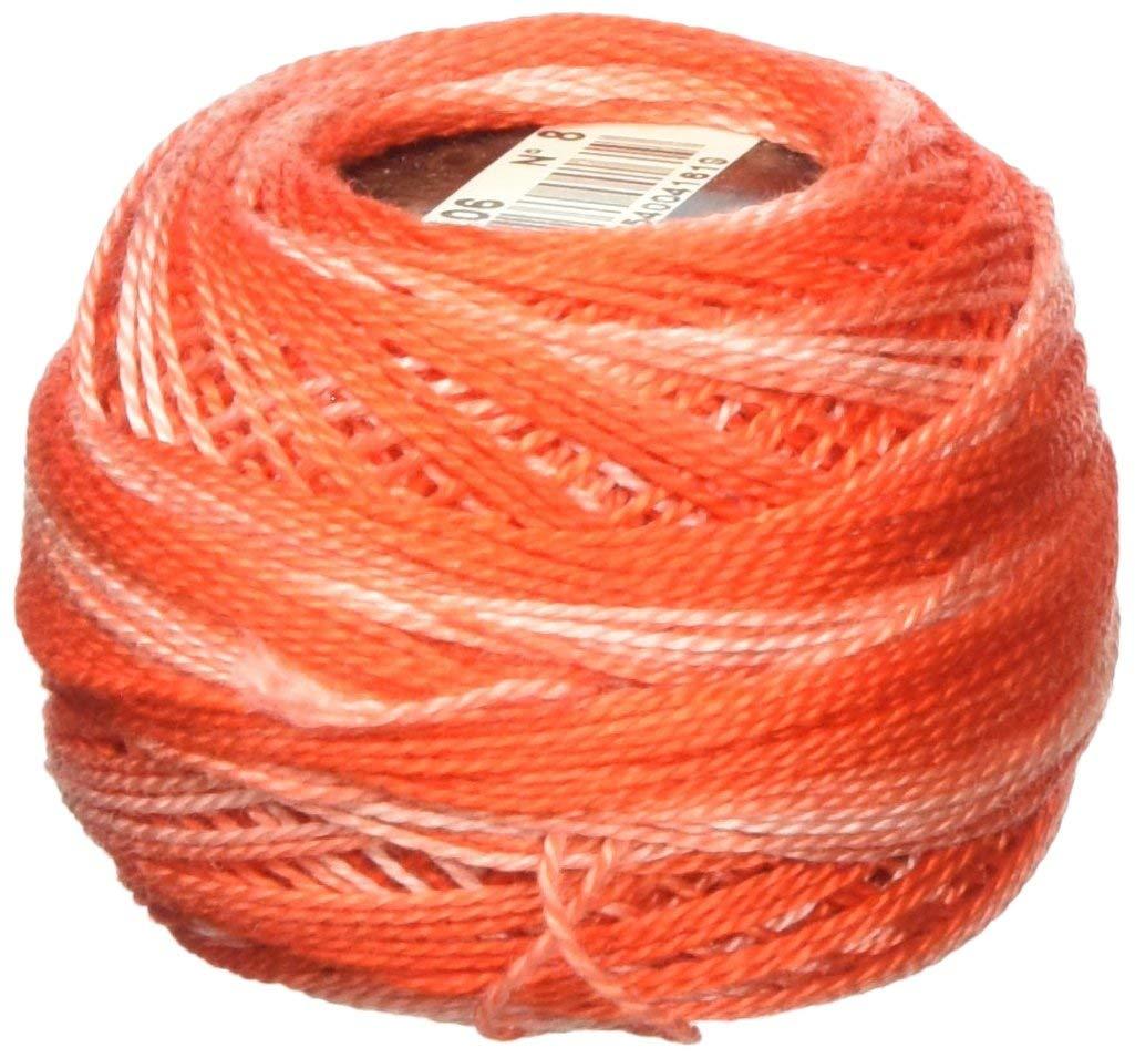 DMC 116 8-106 Pearl Cotton Thread Balls, Red, Size 8