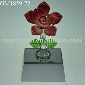 Valentine's gifts/Mother's day gifts glass rose