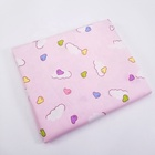 Pink Twill Home Textile 100% Cotton Cartoon Cloud Print Pattern for Sewing Baby Handmade Fabric