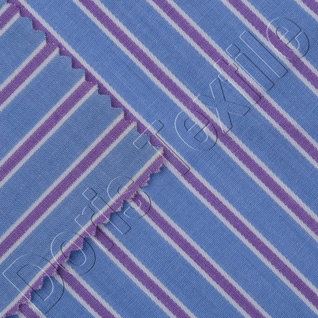 China manufacturer supply stripe cotton yarn dyed fabric for men's shirt