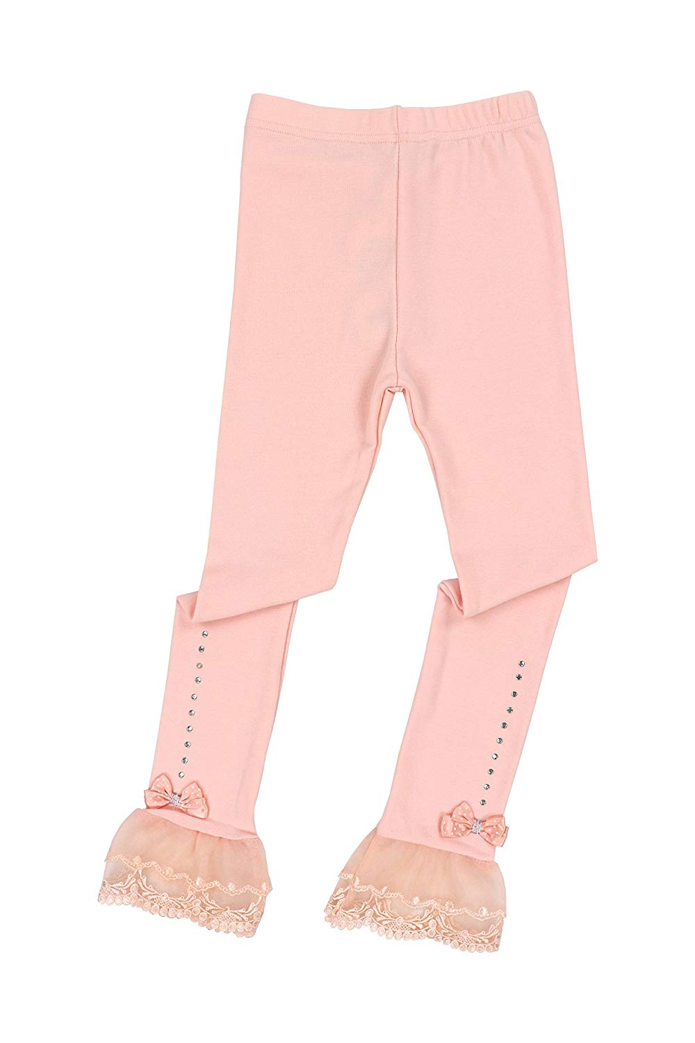 60eb4e5d5abe08 Get Quotations · Toddler Girls Pants Little Girls' Solid-Leggings Pink  Bowknot Lace