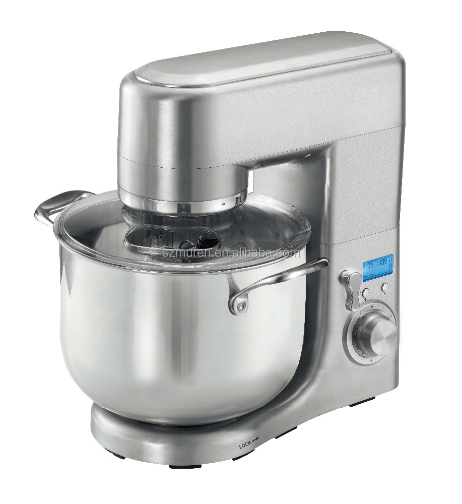 Hot selling 1500W 10L Rotating Bowl Stand Mixer with Digital Control & double dough hooks
