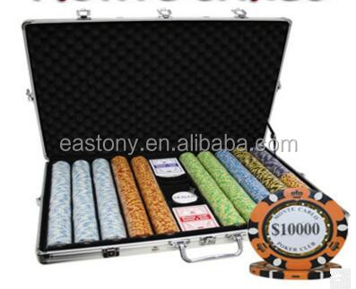 1000pc Deluxe Poker Chip Case in silver color