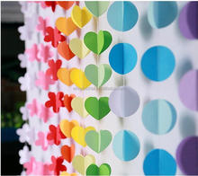 Allibaba Com Decoration Product Type and Wedding Decoration 3 D Heart Shape Paper Garland