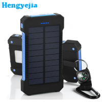 Multi-functional outdoor activities waterproof portable 20000mah charger solar power bank 10000mah