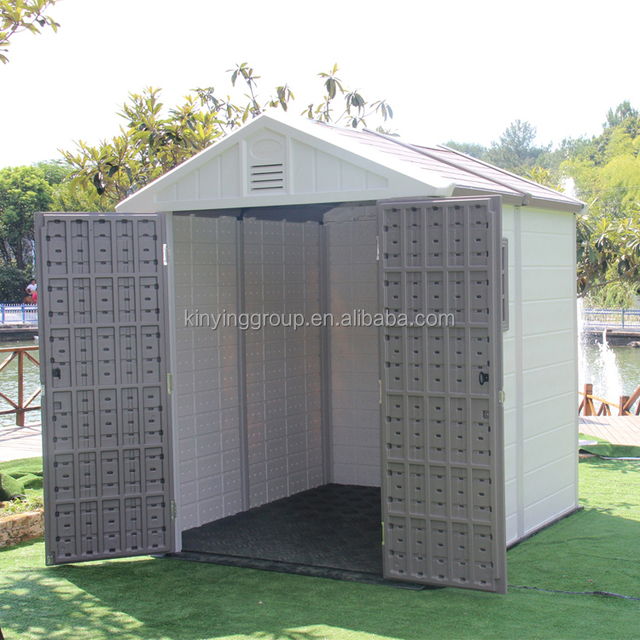 Kinying brand factory price Kinying brand simple plastic garden shed high quality modular homes for sale