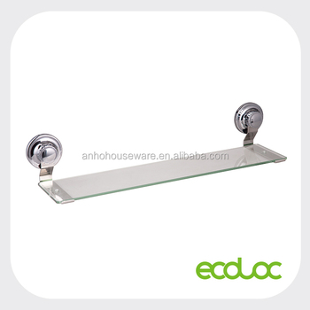 Bathroom Accessories With Suction Cups ecoloc suction cup bathroom glass shelf,glass organizer,single