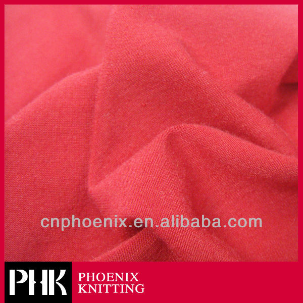 RED THICK POLYESTER JERSEY KNIT FABRIC