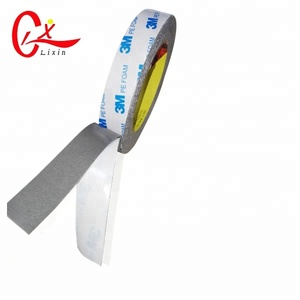 1mm Thickness 3M Tape PE Foam 1600 Double Sided Adhesive Foam Tape