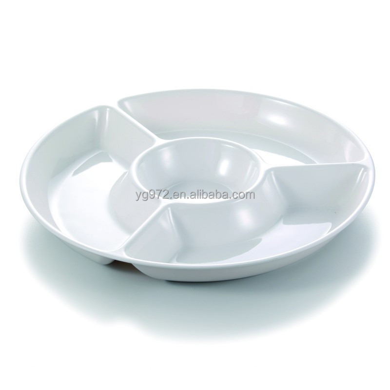 Melamine Divided Fast Food Plates Round Snack Tray Gummy Pasta Dishes Plastic Product On Alibaba