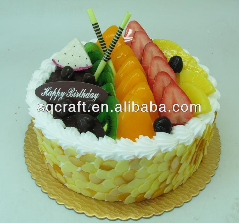 Lifesize Fruit Cream Cake Fake Display Artificial Food Prop - Buy ...