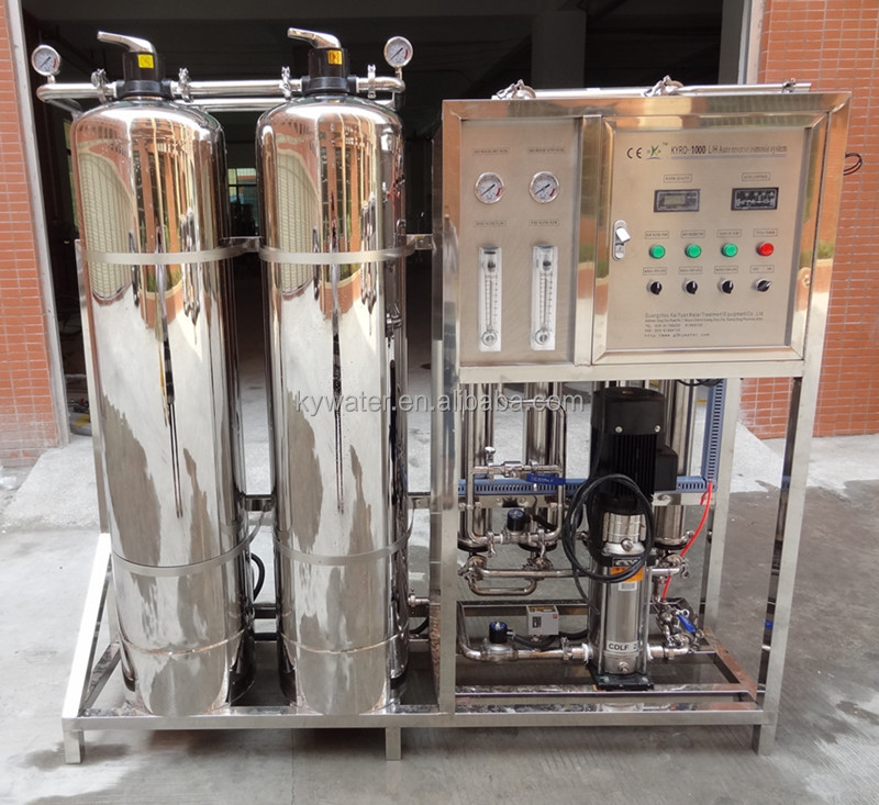 CE ISO Approved 1000LPH RO Reverse Osmosis Water Treatment System With USA <strong>Membranes</strong>