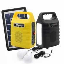 Shopee top selling 3W DC off grid led emergency kleine indoor outdoor mini panel Home mobiele power Portable Solar verlichting systeem