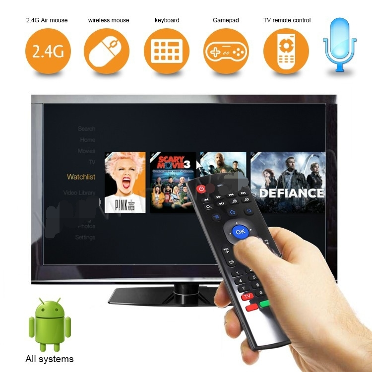 Para Finlux Smart TV 32F8072-T MX3 MXIII 2,4g aire ratón inalámbrico Android Control remoto
