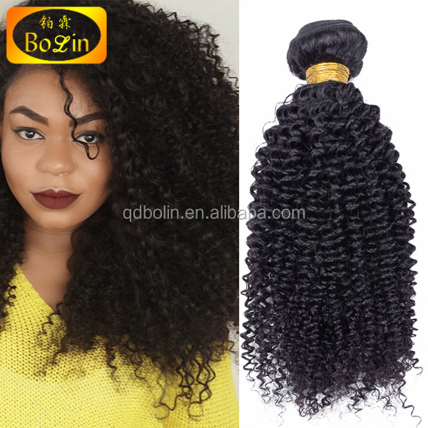 Wholesale price natural color 100% virgin mongolian kinky curly hair weave