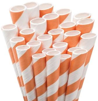 Disposable Large Diameter Paper Straw for Bubble Tea Drinking
