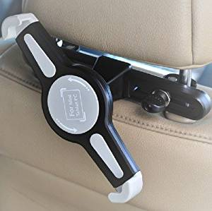 Lufei Universal 360 Degree Rotating Swivel Car Back Seat Mount Cradle Adjustable Portable Clip Holder Hands-free Headrest Bracket for Tablet for Apple Ipad 1 2 3 4 5 Air; Samsung Galaxy Tab 2 7.0 P3100 P3110 P3113 P3108 P6200 P6210, Tab 3 7.0 P3200 T210 T211, Tab 3 10.1 Inch P5200 P5210, Tab 4 8.0