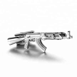 Design crazy selling cool ak-47 shape 2017 custom tie clip