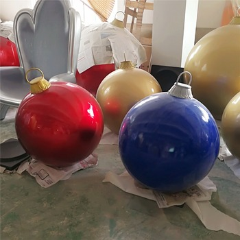 colorful large outdoor fiberglass christmas ornaments balloon decoration - Large Outdoor Christmas Balls