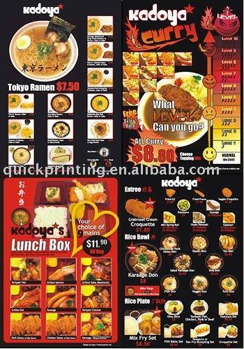 restaurant menu card printing view menu card quickprinting product