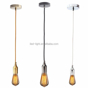 Ceiling Pendant Vintage E27 Screw Types Bulb Light Lamp Holder with Wire Cord