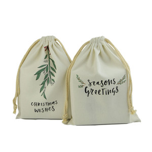 organic drawstring dust cotton pouch bag