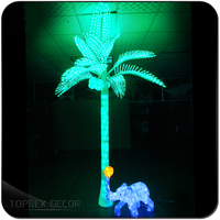 LED climbing device artificial coconut tree