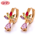 2017 Vietnam Trend Gold Plating Crystal Vogue Jewelry Earrings