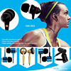 Soft silicone rubber ear tips (S/M/L) crystal clear stereo sound earphone sport