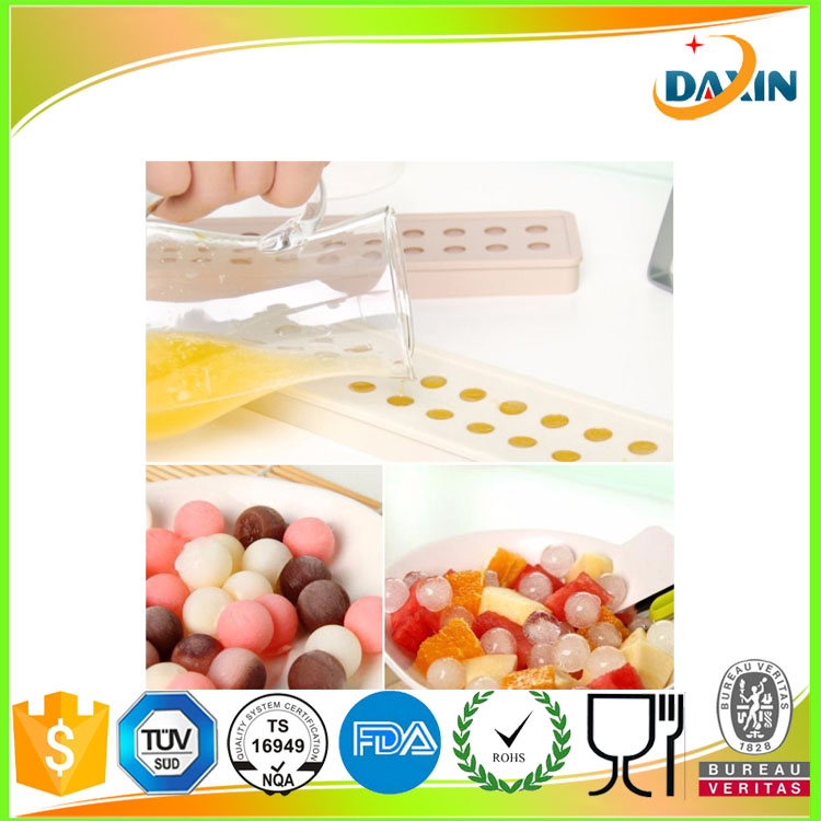 Special small ice ball ice mold/silicone beads ice cube tray