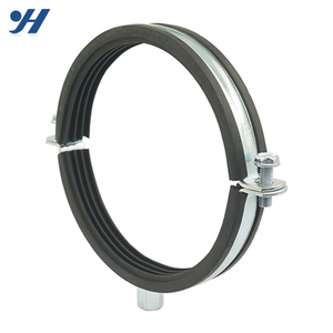 Factory Produced China Supplier Rubber Lined Supporting Pipe Hose Clamp
